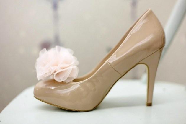 283 Мастер класс: шифоновый цветок для свадебных туфель невесты