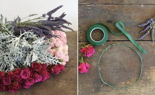 290 Мастер-класс: нежный венок для невесты из диких роз, васильков и лаванды