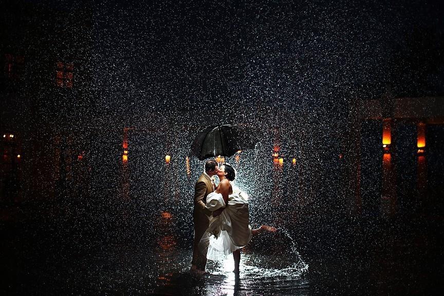 """425 Романтичная свадьба в стиле музыкального фильма """"Поющие под дождем"""""""