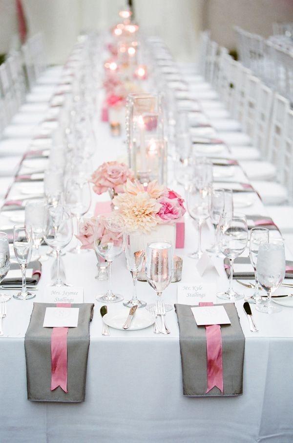 915 Нежная и стильная свадьба в сером и розовом цветах