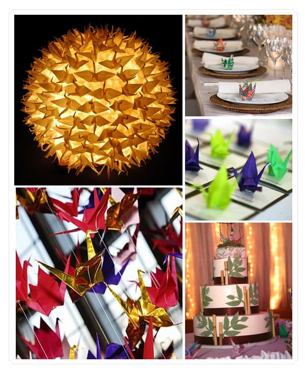 "Svadba-v-stile-tysyacha-zhuravlikov-1 Свадьба в стиле ""тысяча журавликов"": украшаем свое торжество оригами"