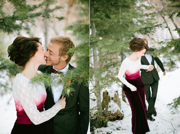 barhatnoe-svadebnoe-plate Свадьба в стиле «бархат» - идеальная тематика для зимнего торжества