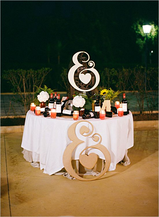 """dekor-stolov-Ampersand Свадьба в стиле """"Амперсанд"""": используем один символ ключевым декоративным моментом на своем празднике"""