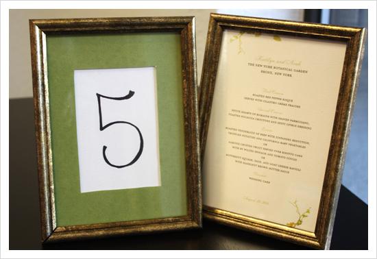 Мастер-класс: меню и номера для столов
