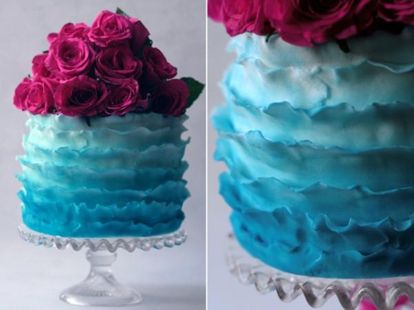 tort-v-stile-gradient ТОП-7 модных фактурных свадебных тортов