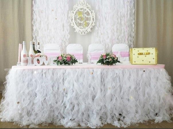 Воланы в свадебном декоре