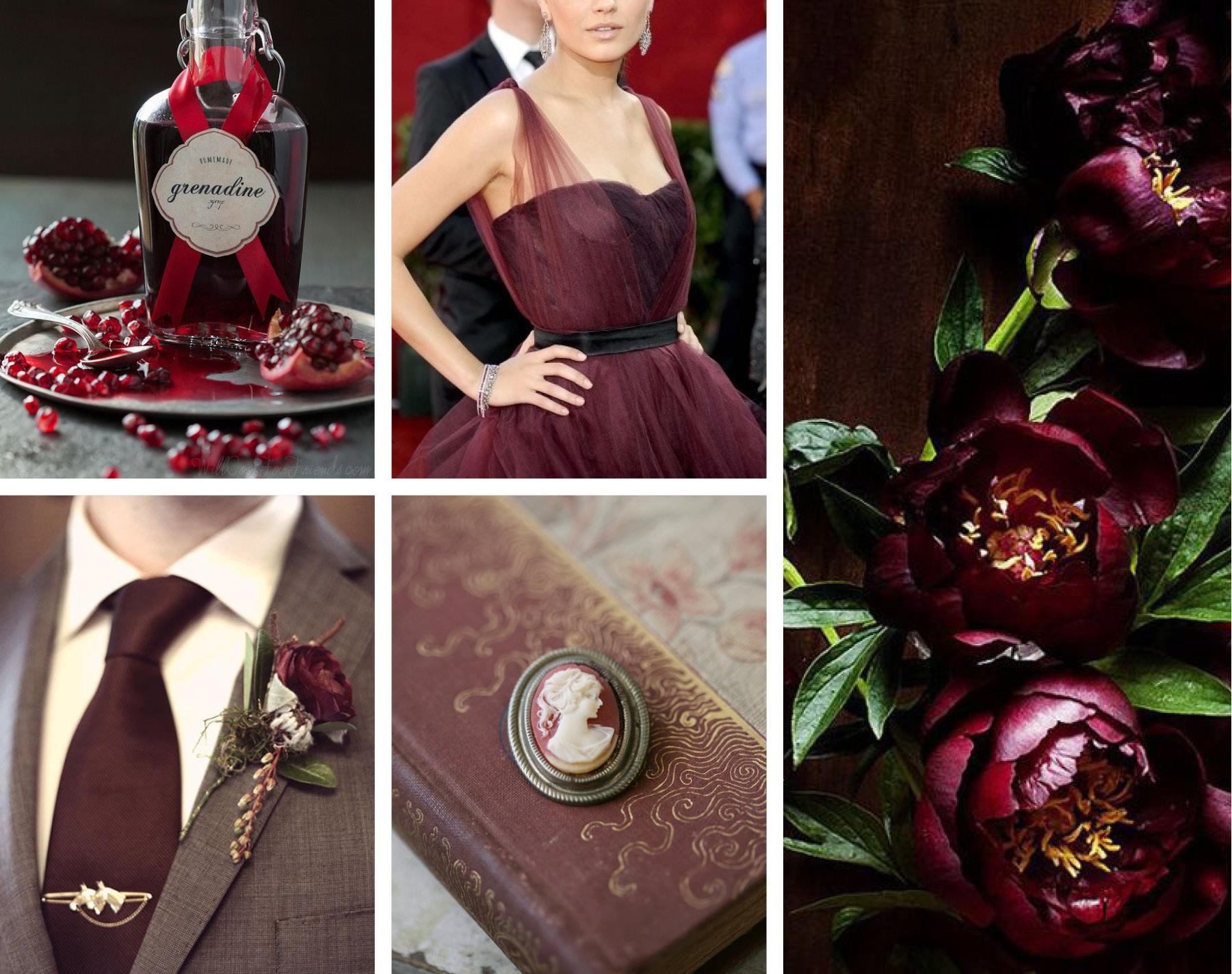 Марсала – самый модный свадебный цвет.