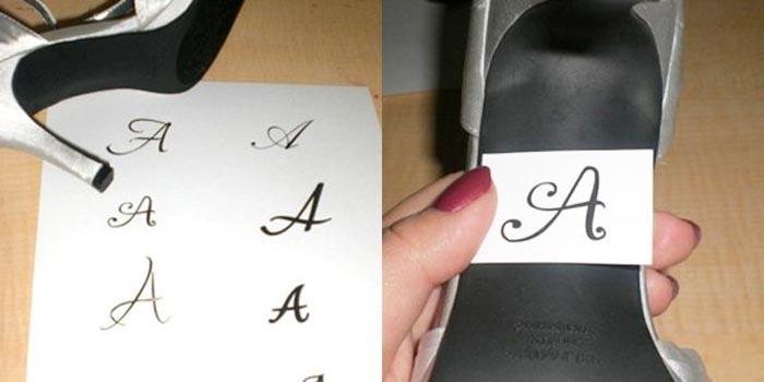 3 Мастер-класс: свадебные туфельки невесты с надписями из страз