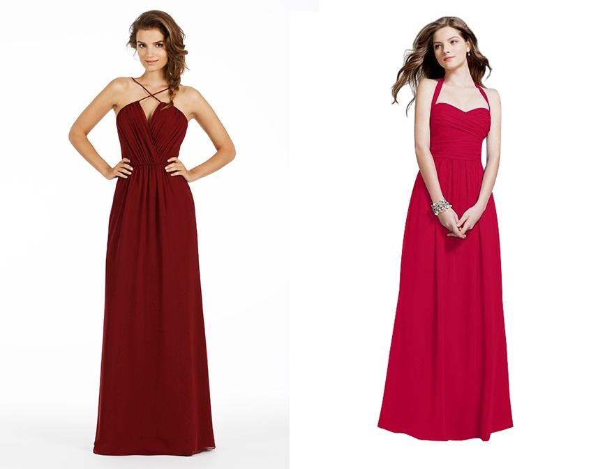 Романтические красные свадебные платья
