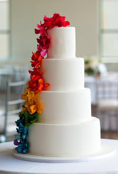 Яркие свадебные торты