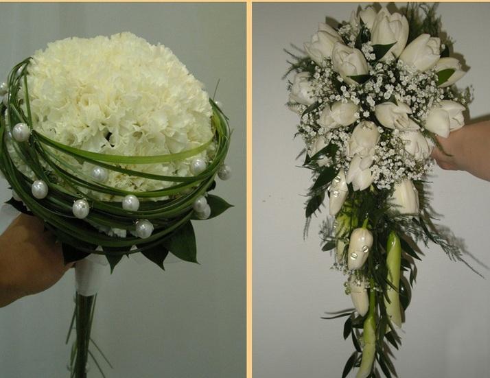 buket-nevesty-s-zhemchuzhnymi-businami Свадебные букеты, украшенные жемчужными бусинами