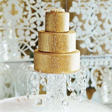 metallicheskij-tort Свадебные торты с эффектом металлик