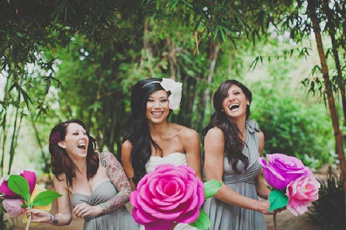 Свадебный мастер-класс: гигантские розы
