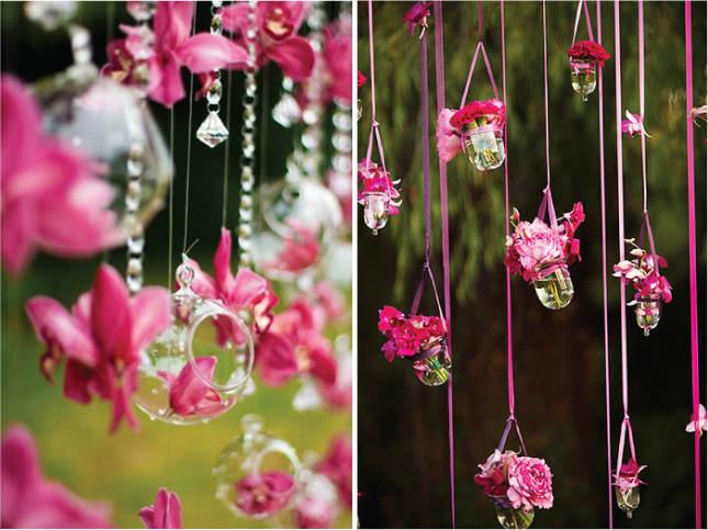 Подвесной свадебный декор – необычный способ украсить торжество
