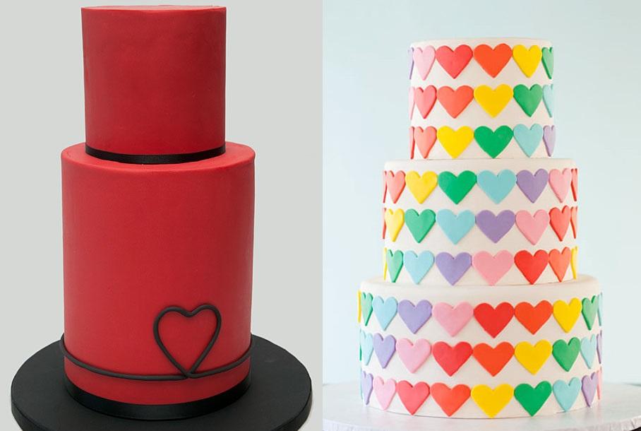 Тематические свадебные торты: сердце