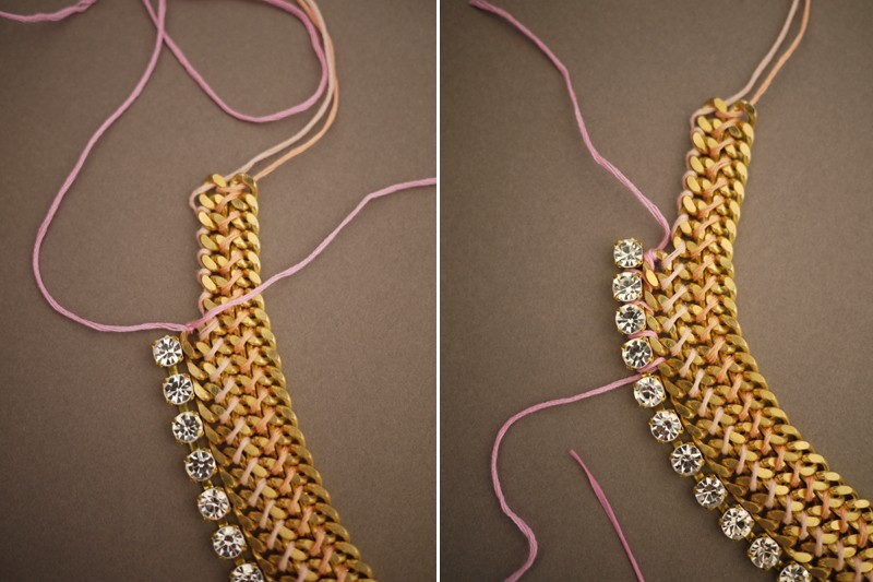 strazy-k-tsepochke Мастер-класс: роскошное ожерелье для невесты собственными руками