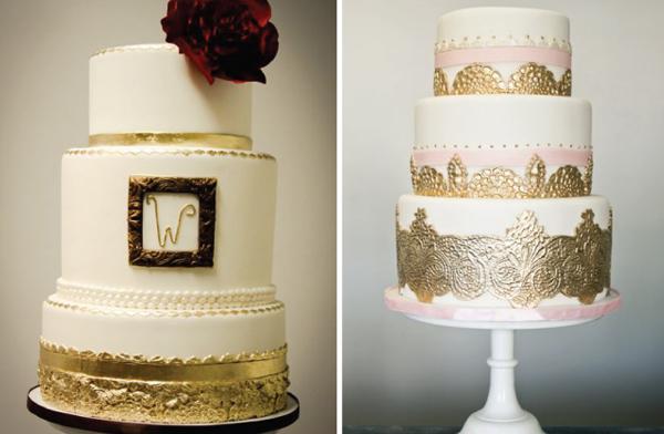 svadebnye-torty-s-uzorom-metallik Свадебные торты с эффектом металлик