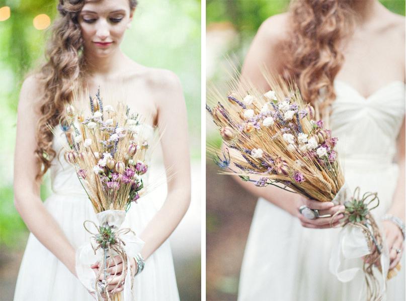 svadebnyj-buket-s-kolosyami-pshenitsy Тренды свадебной флористике в 2015 году