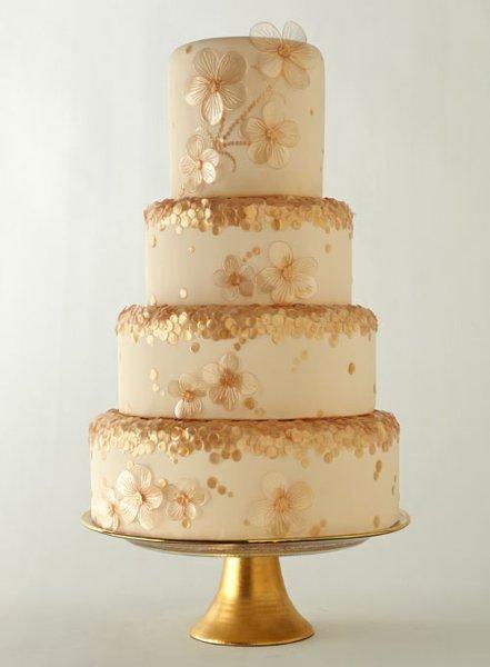 tort-s-krupnymi-blestkami Блестки в оформлении свадебных тортов