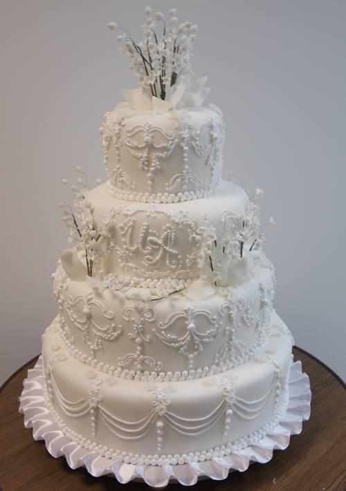 tort-s-rospisyu-i-zhemchugom «Ювелирные» свадебные торты идеальный вариант для роскошной свадьбы