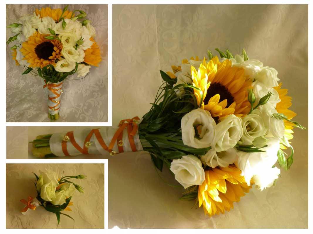 p1020828-1 Свадебные букеты с подсолнухами