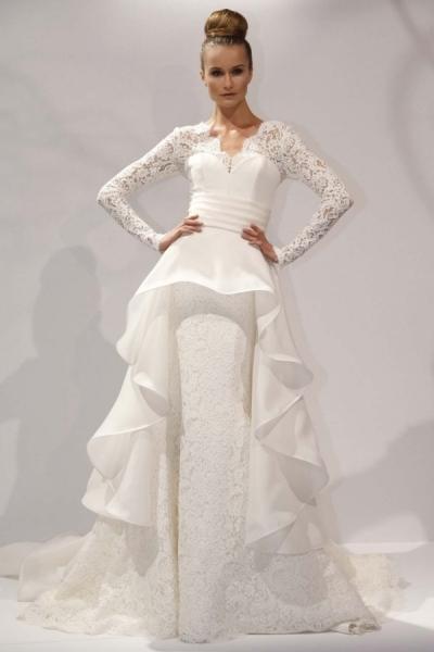 svadebnoe-plate-s-dlinnoj-baskoj Свадебные платья с баской