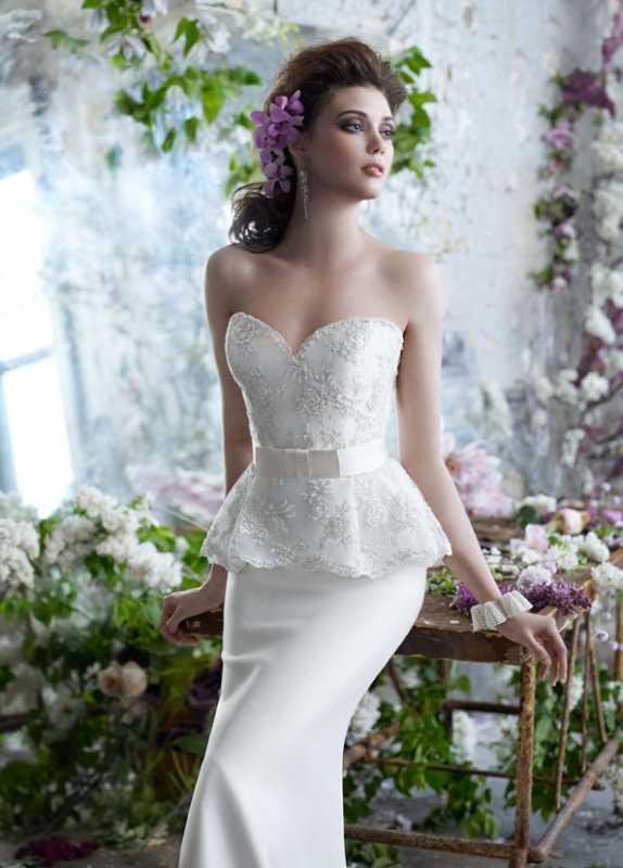 svadebnoe-platya-s-korotkoj-baskoj Свадебные платья с баской