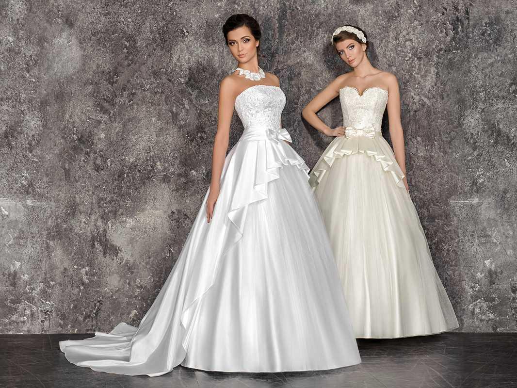 Свадебные платья с баской