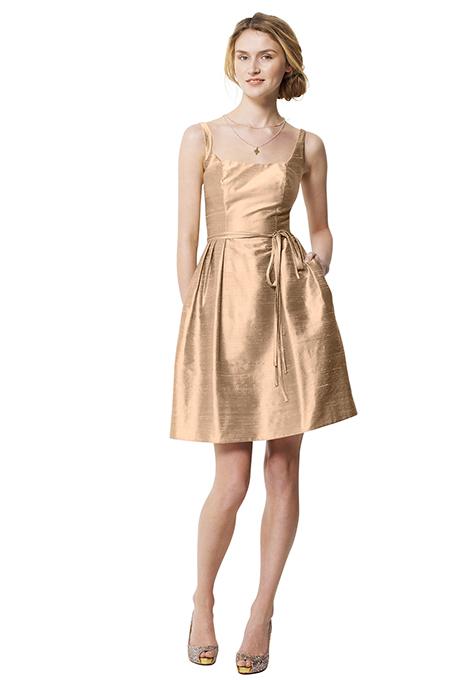 Золотые платья для подружек невесты