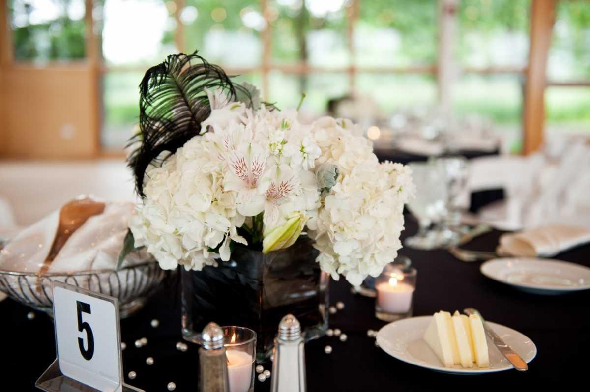 Подбираем черно-белый декор для стильной свадьбы