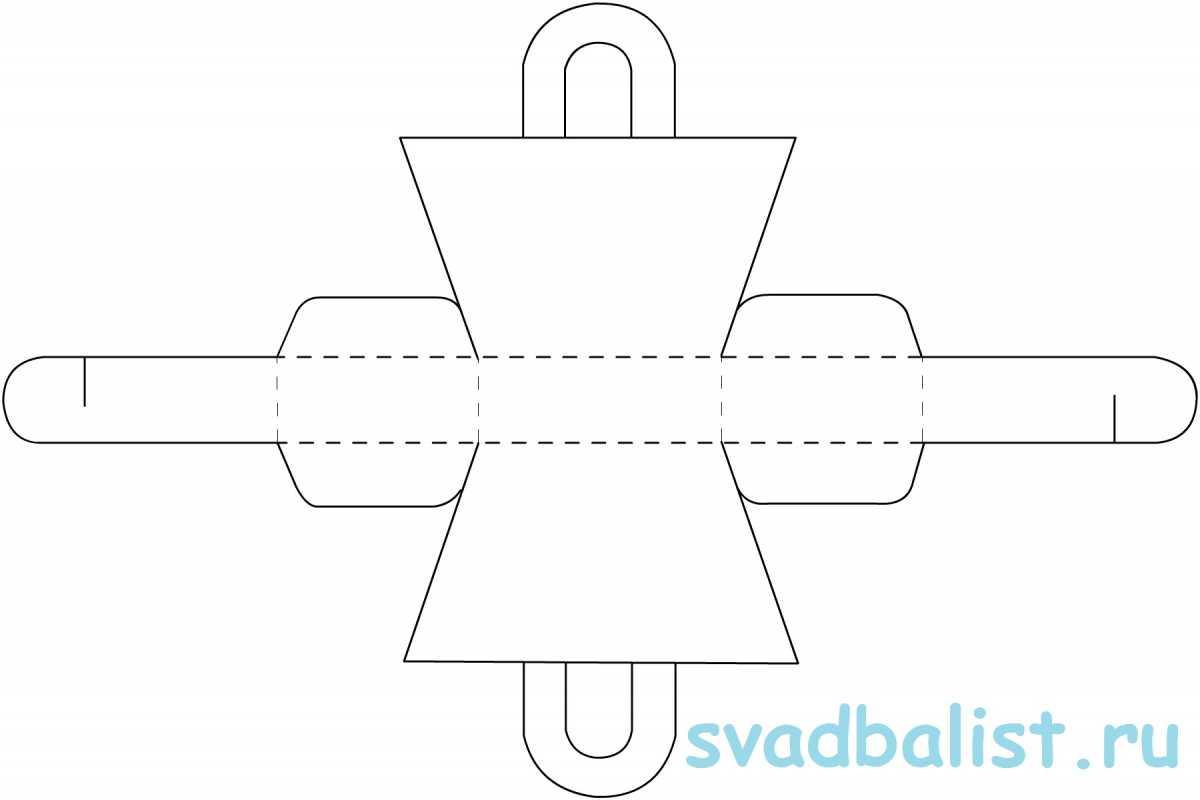 2-bonbonerka-sumochka 10 простых схем для изготовления свадебных бонбоньерок своими руками