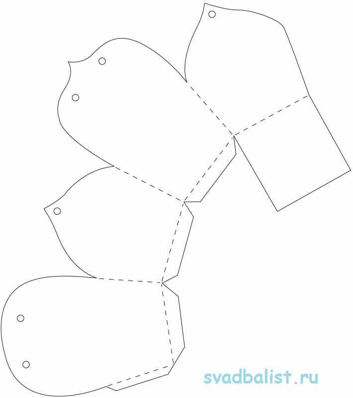 5-bonbonerka-sunduchok 10 простых схем для изготовления свадебных бонбоньерок своими руками