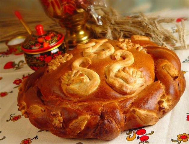 karavaj-v-russkom-narodnom-stile Как создать десертный стол для свадьбы в русском стиле без привлечения оформителей?