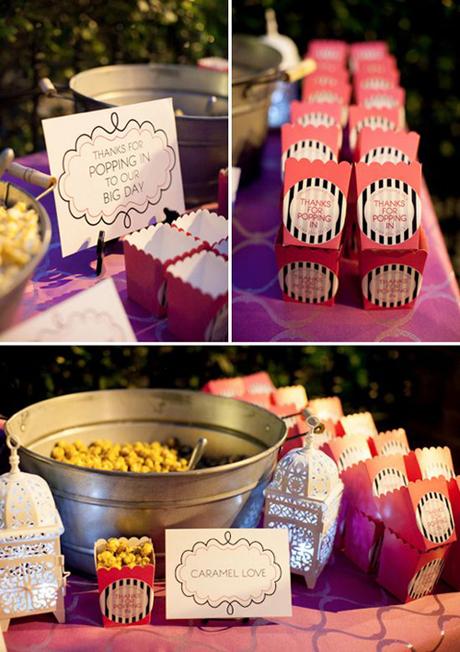 paketiki-dlya-popkorna-na-svadbu Попкорн бар - один из вариантов свадебного десертного стола