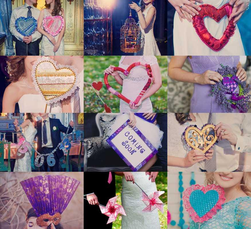 serdechnyj-rekvizit-dlya-svadebnoj-fotosessii Выбираем реквизит для свадебной фотосессии