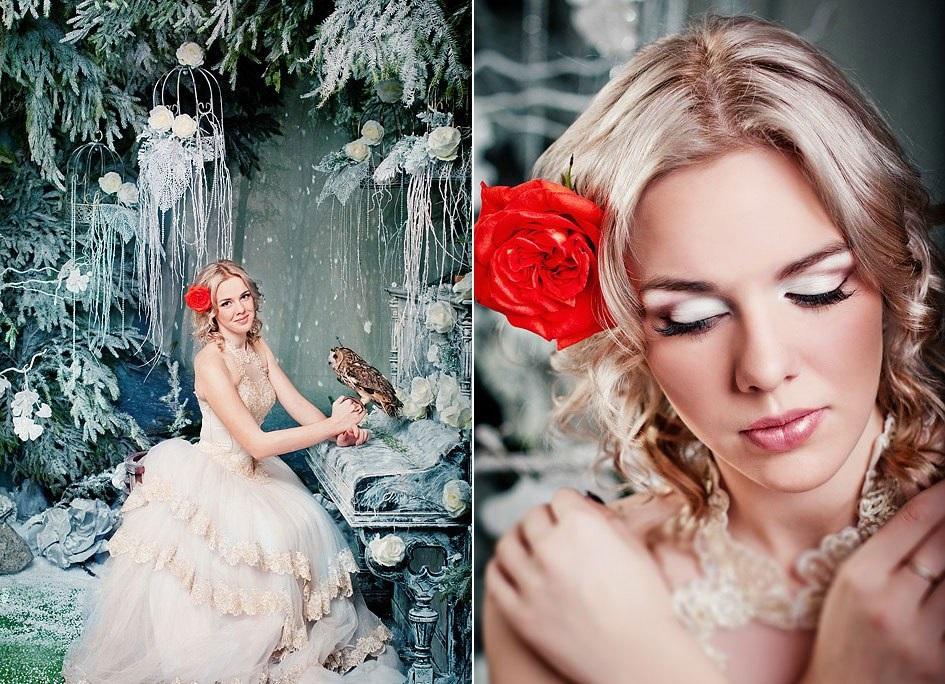 skazochnaya-fotosessiya-s-sovami Удивительная свадебная фотосессия с живыми совами