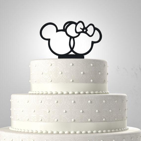 svadebnyj-tortik-minni-maus Нежный Кэнди Бар в стиле Минни Маус для свадебного торжества