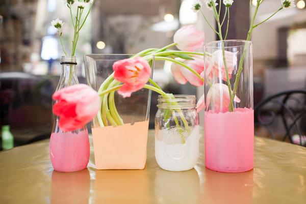 Декоративные вазы на свадьбу своими руками