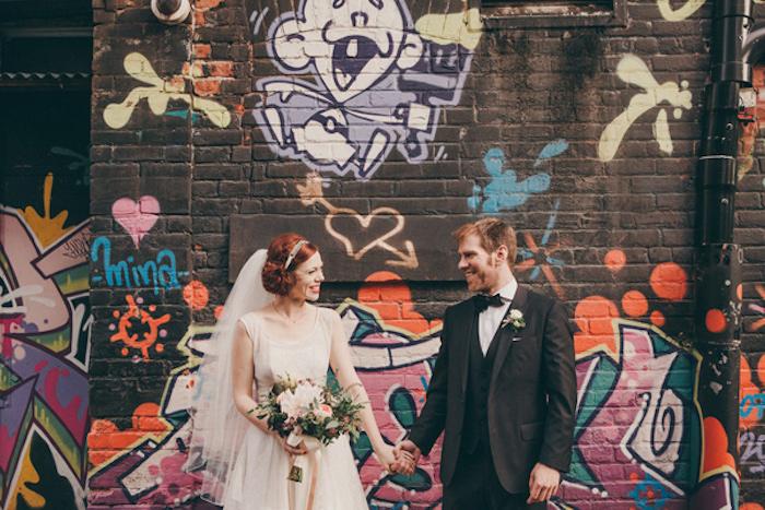 Искусство граффити в декоре свадьбы