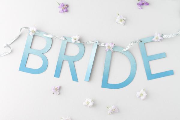 Свадебная растяжка в стиле амбре своими руками