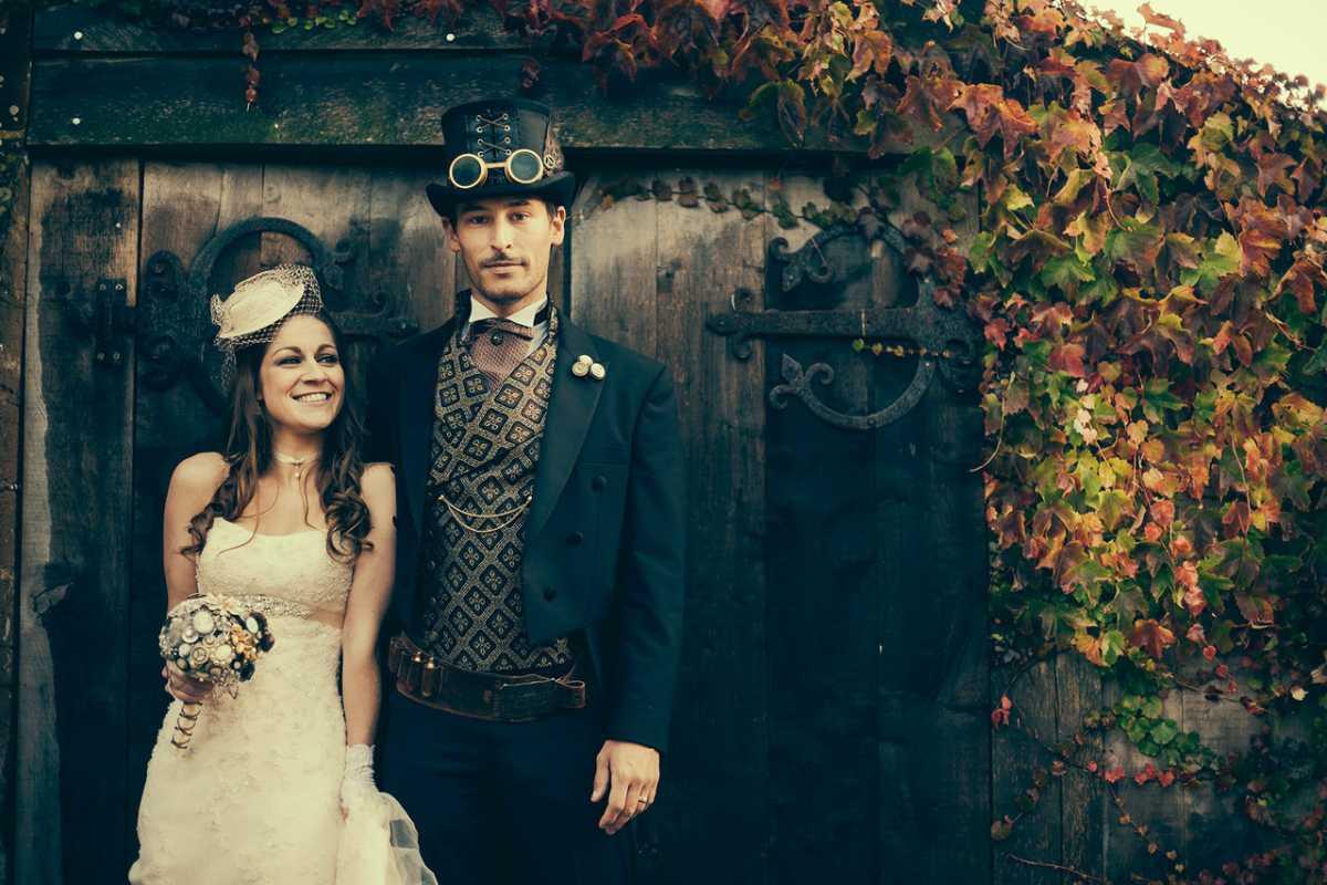 Свадебный костюм для жениха в стиле стимпанк