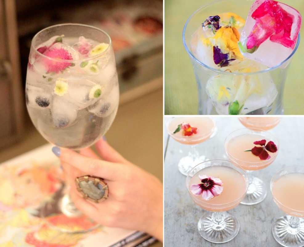 Мастер класс: цветочный лед для летней свадьбы