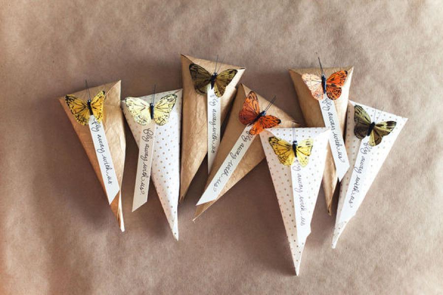 Бонбоньерки на свадьбу с бабочками своими руками