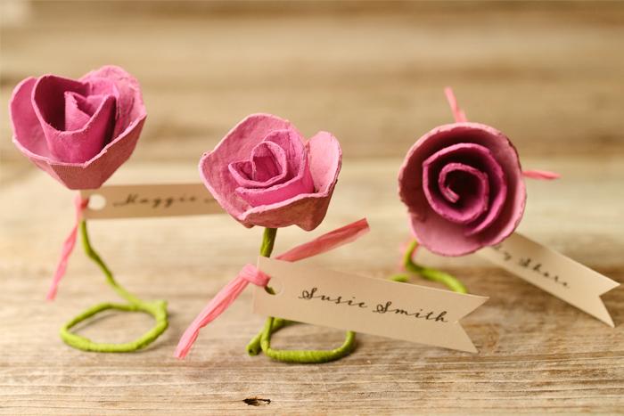 Карточки рассадки в виде роз на свадьбу