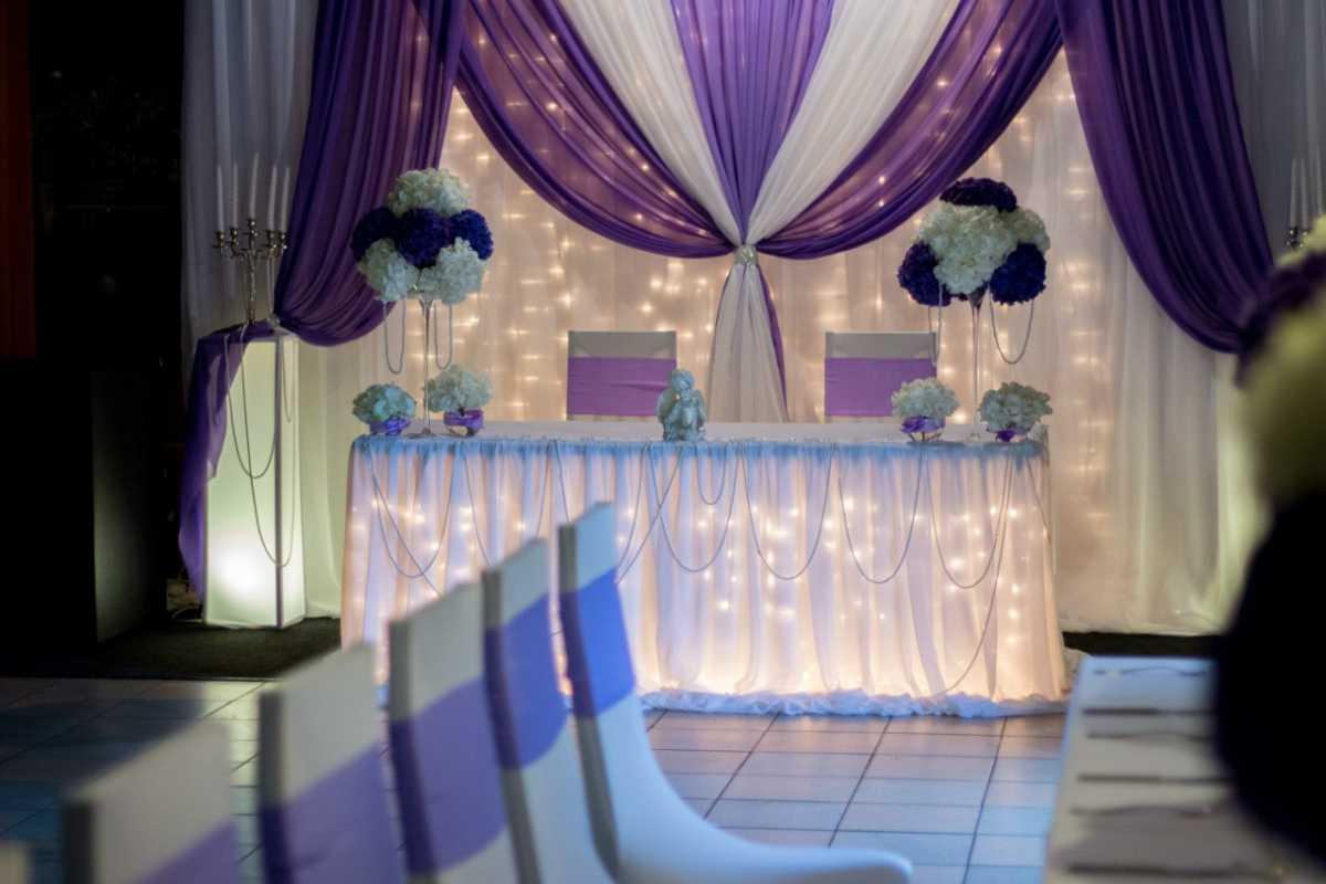 Как украсить зал на свадьбу: недорогое оформление свадебного зала