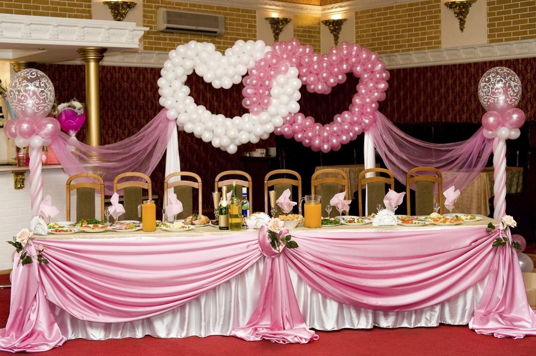 Свадебные залы оформление шарами фото идеи