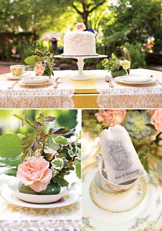1-svadba-v-stile-chaya Восхитительная винтажная свадьба в стиле зеленого чая, с нотками романтики и нежности