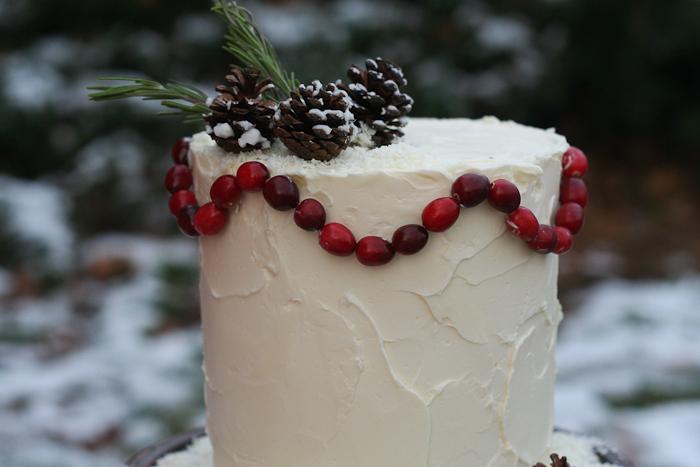 Dekor-zimnego-svadebnogo-torta-svoimi-rukami-15 Декор зимнего свадебного торта своими руками