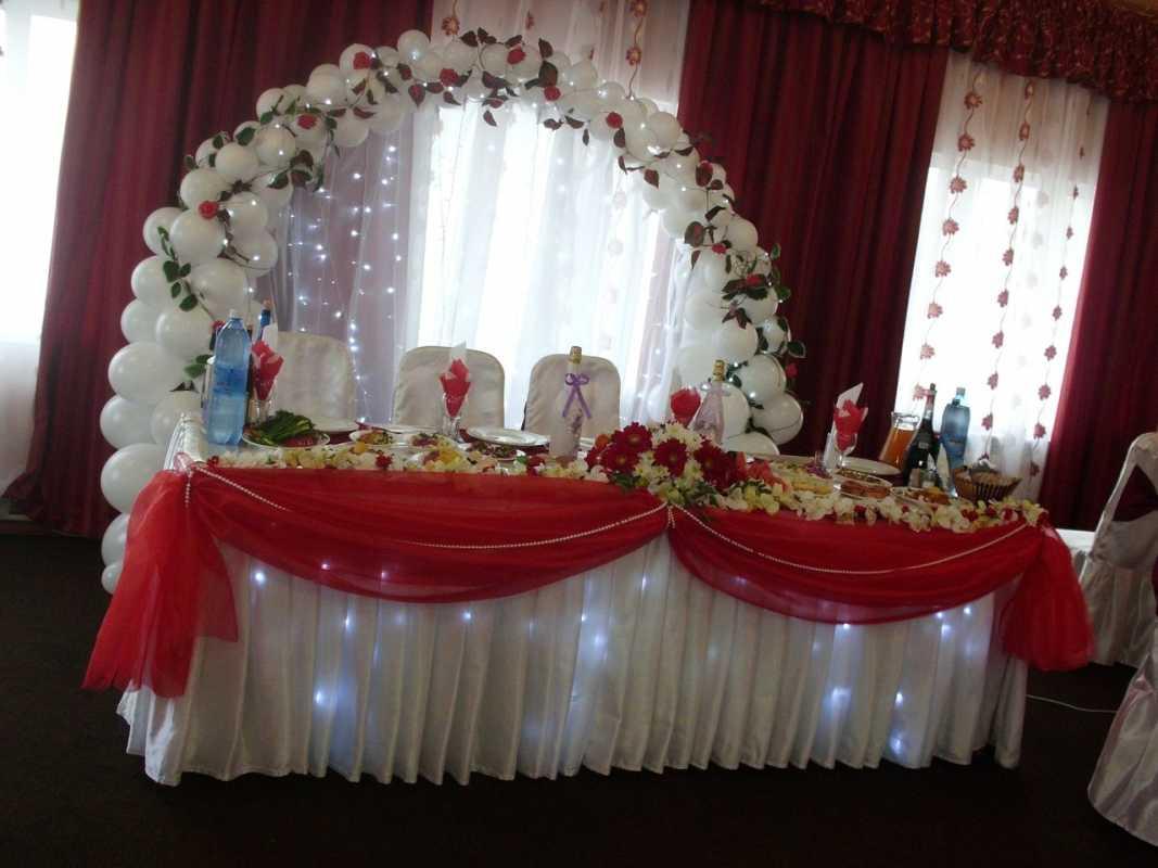 Krasnoe-oformlenie-svadebnogo-zala-8 Красное оформление свадьбы и свадебного зала