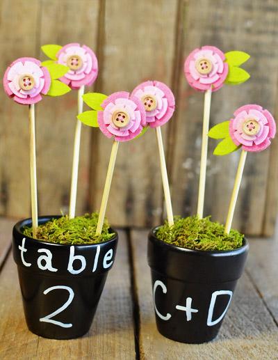 Nomera-stolov-v-vide-tsvetov-na-svadbu-9 Номера столов в виде цветов на свадьбу